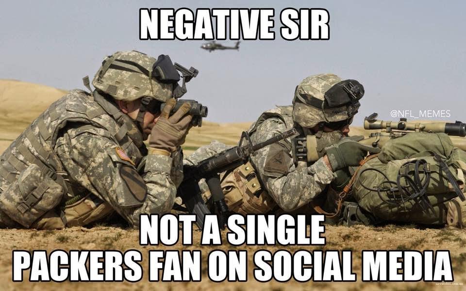 negative sir not a single packers fan on social media