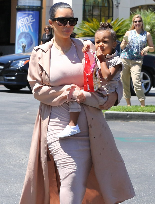 Kim Kardashian and her daughter, North West, in Los Angeles, USA