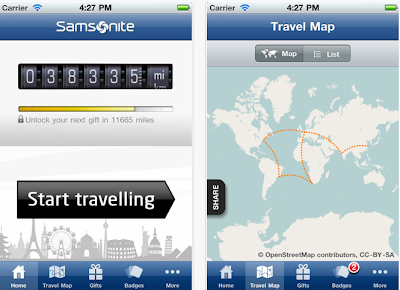samsonite travels app for android and iPhone