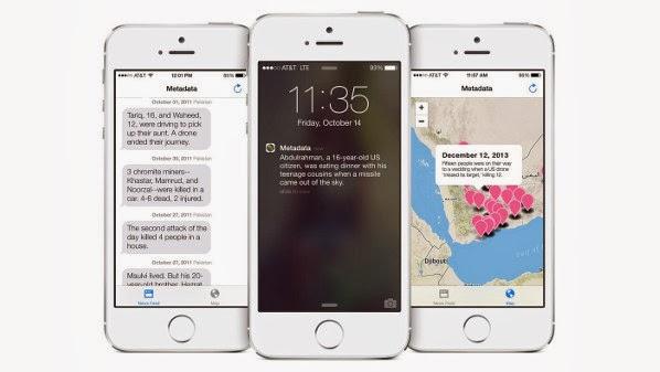 """تطبيق +MetaData لتتبع هجمات الطائرات دون طيار لهواتف """"آيفون"""""""