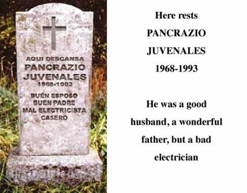 Tombstones with special Titles and Quotes