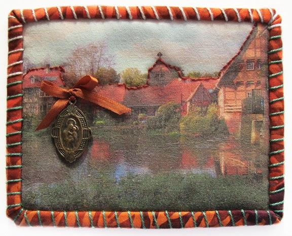 Robin Atkins, Travel Diary quilt, detail, Kloster Wienhausen, DE