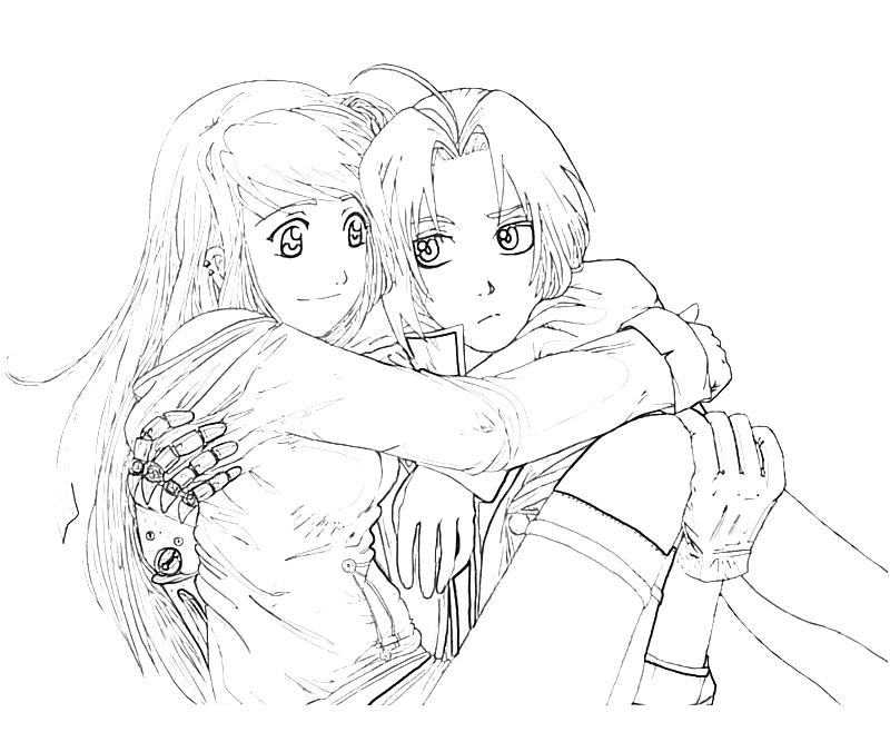 free fullmetal alchemist coloring pages - photo#36