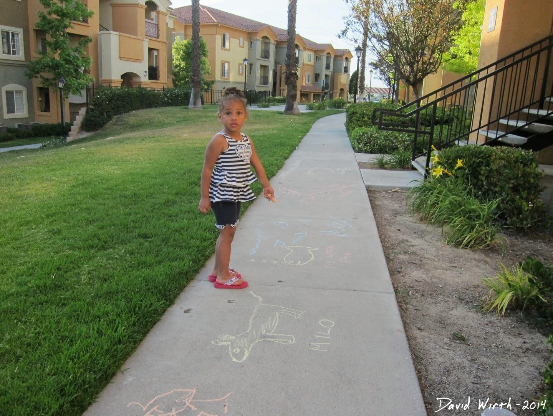 sidewalk chalk, cheap fun