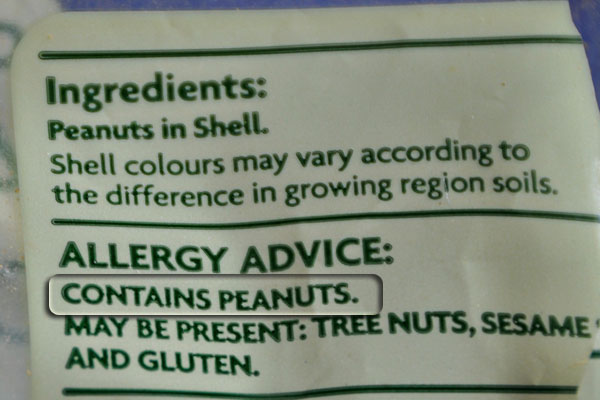 allergy advice on peanuts