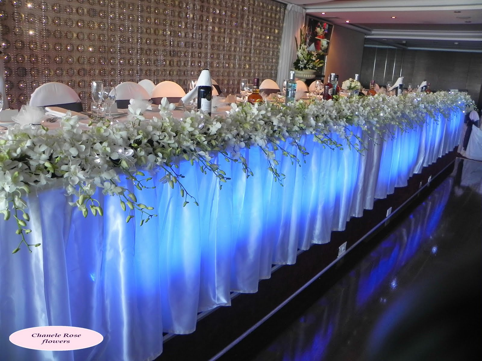 floral elegant table bridal wedding arrangement of flower hanging runner decor decorations