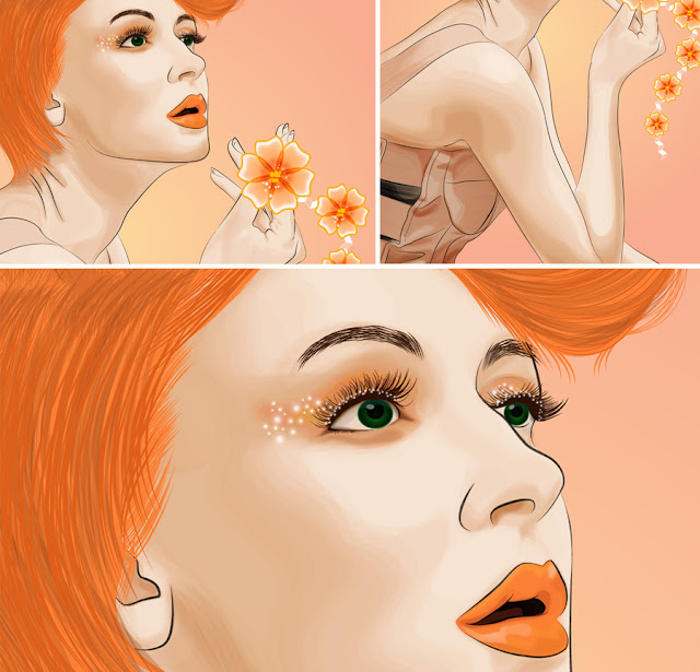 Art Li and Stuff - Tangerine Lady closeup screenshots  - Anna Li on DeviantArt