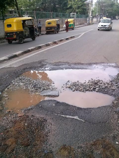 sultanpalya pothole