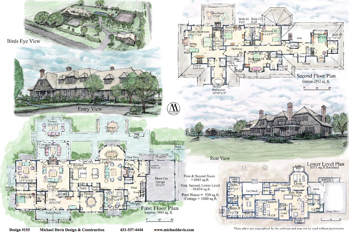 Mansion floor plans for Hamptons style floor plans