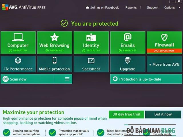 Phần mềm diệt virus miễn phí AVG Antivirus 2014