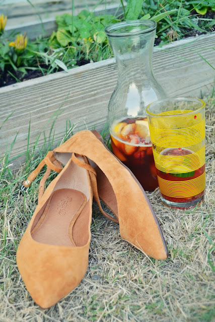 Madelwell, flats, shoes, leather, suede, pimm's cup, summer drinks, seattle, lifestyle, summer