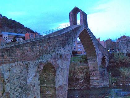 El Pont del Diable vist des del cantó nord