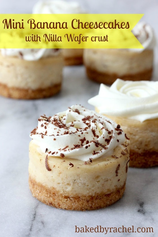 mini banana cheesecakes with nilla wafer crust recipe