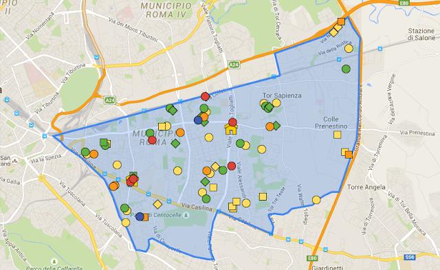 mappa v municipio 5 roma servizi sociali