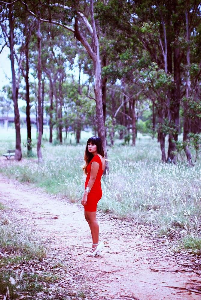Dress Nation Harper Red Dress One Shoulder