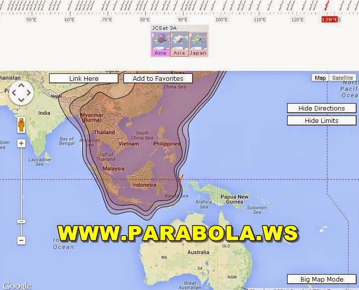 satelit parabola beam Indonesia jcsat 3a c/ku band