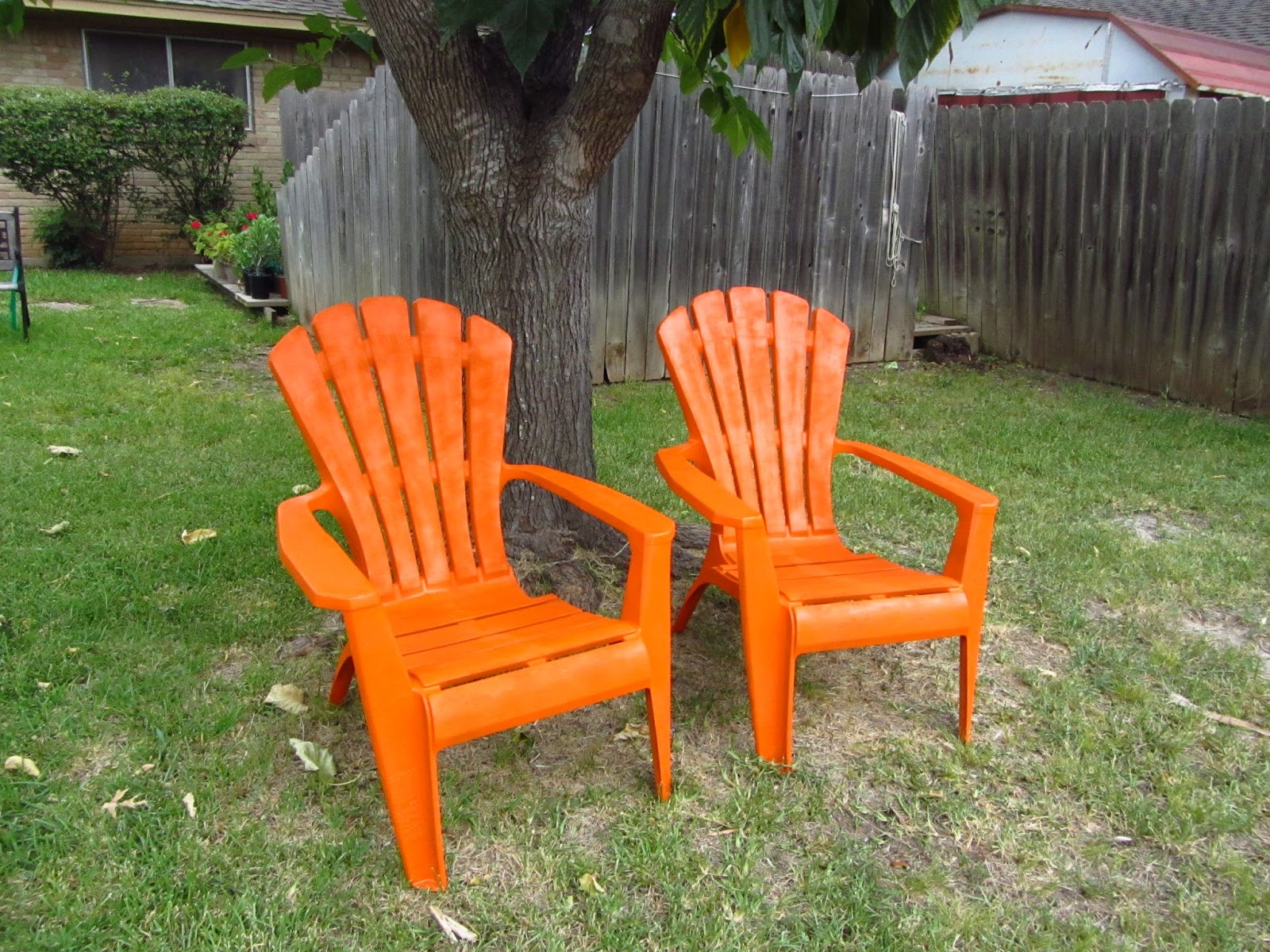 so wonderfully complex painting plastic outdoor chairs