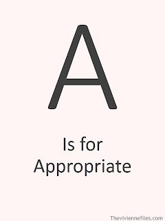 A is for Appropriate in the ABC's of Chic Sightings