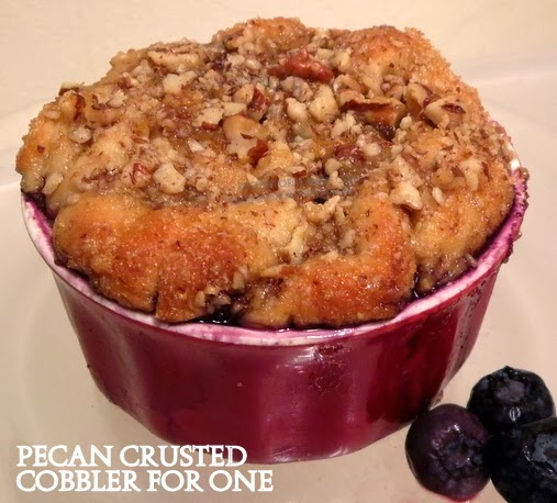 pecan crusted cobbler for one