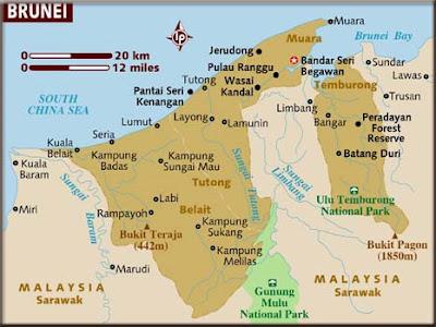Mapa de Brunei Mapa Región