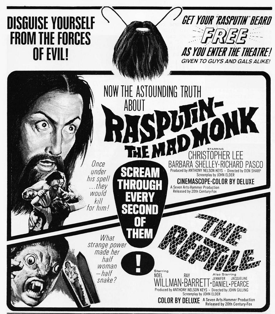 vintage everyday: Old Horror Movie Newspaper Ads