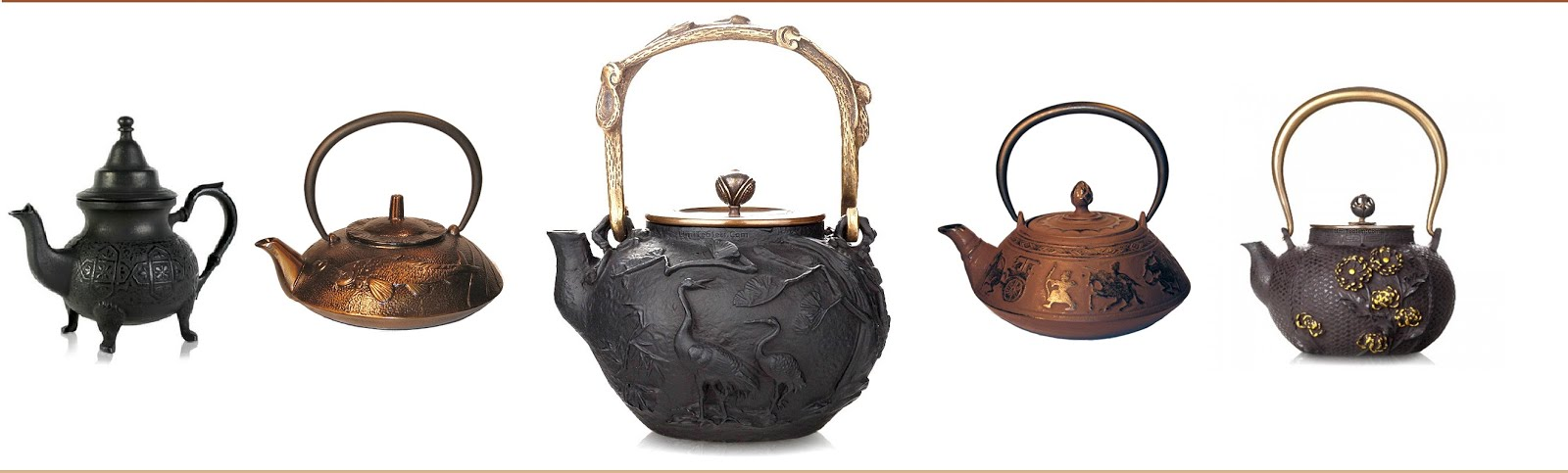IRON AND BRONZE TEAPOTS