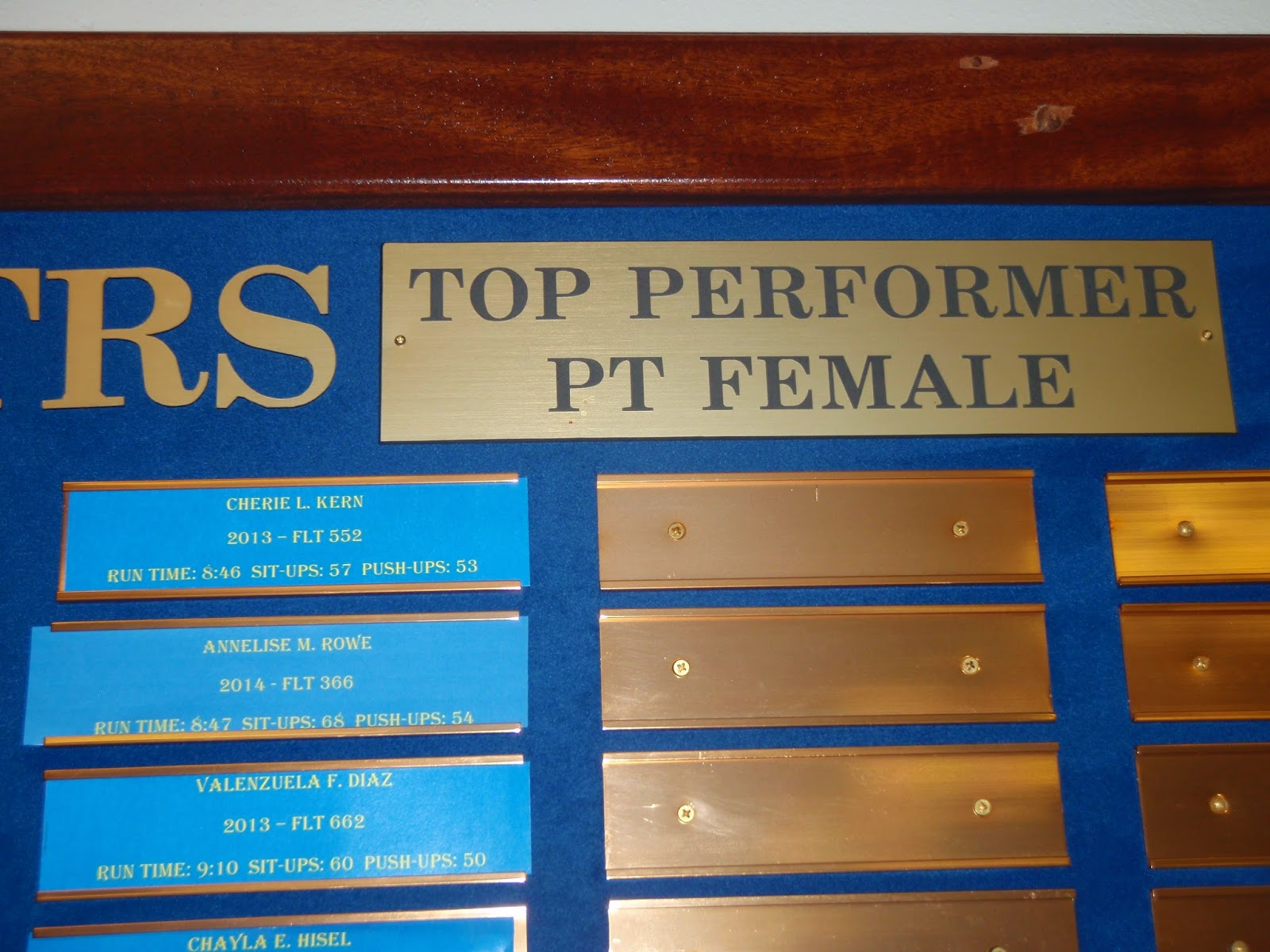 BMT PT, Air Force BMT Physical Training, BMT Top PT Award
