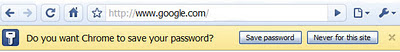 chrome save password
