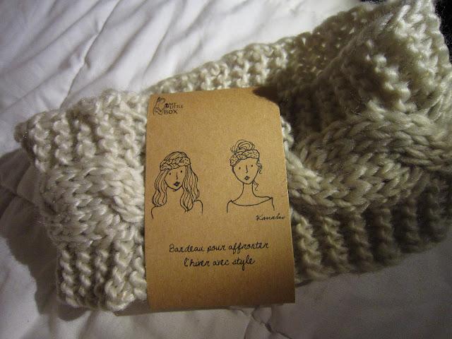 bandeau cheveux laine