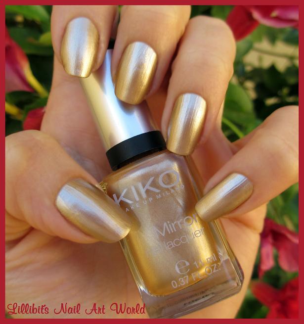 Lillibit s nail art world florecillas pueen le - Pintaunas kiko efecto espejo ...