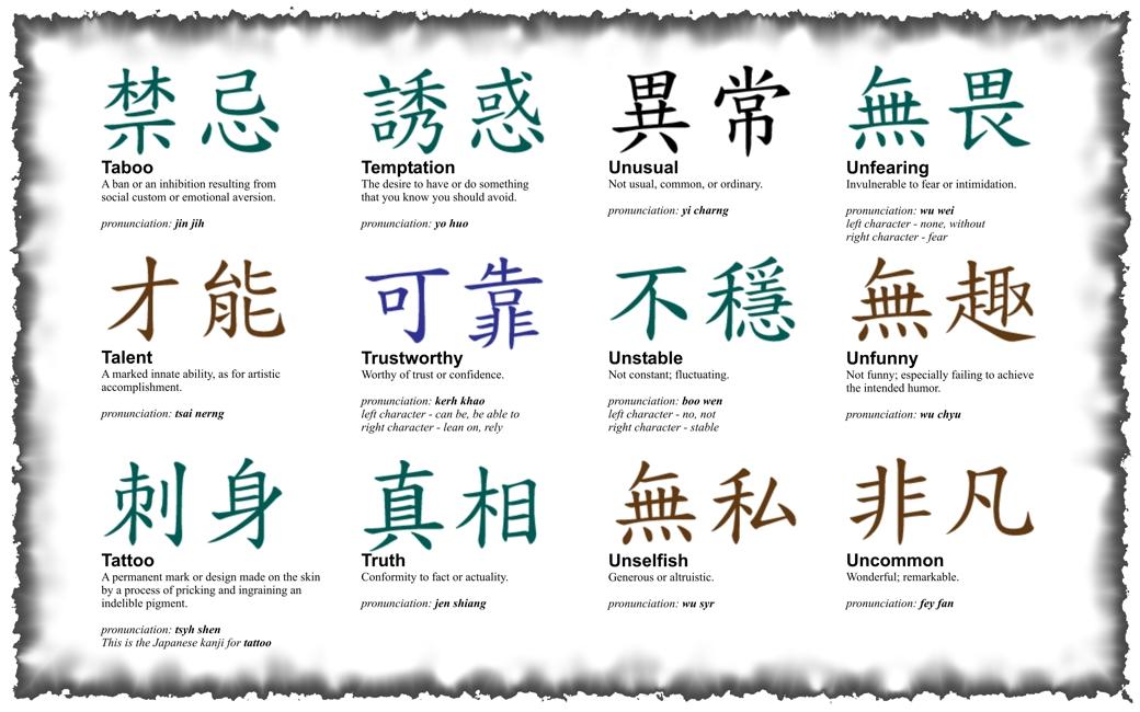 Tattoos Chines Symbol Tattoos And Kanji Symbol Tattoos