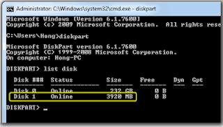 Cara Mudah Instal Windows 7 Menggunakan USB Flashdisk Secara Manual