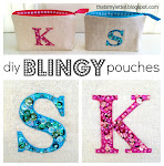 blingy letter pouch