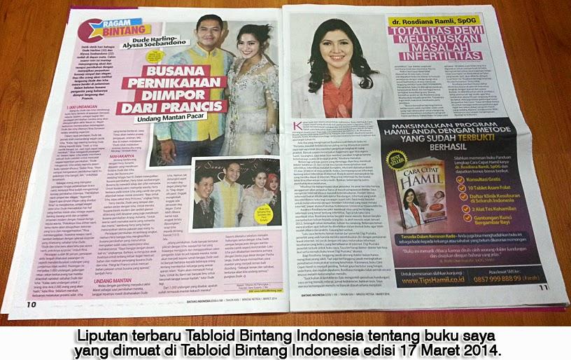 Buku Cara Cepat Hamil Di Liputan Tabloid Bintang Indonesia