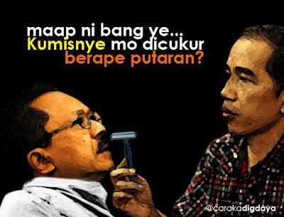 Gambar Lucu Jokowi vs Foke Editing Habis