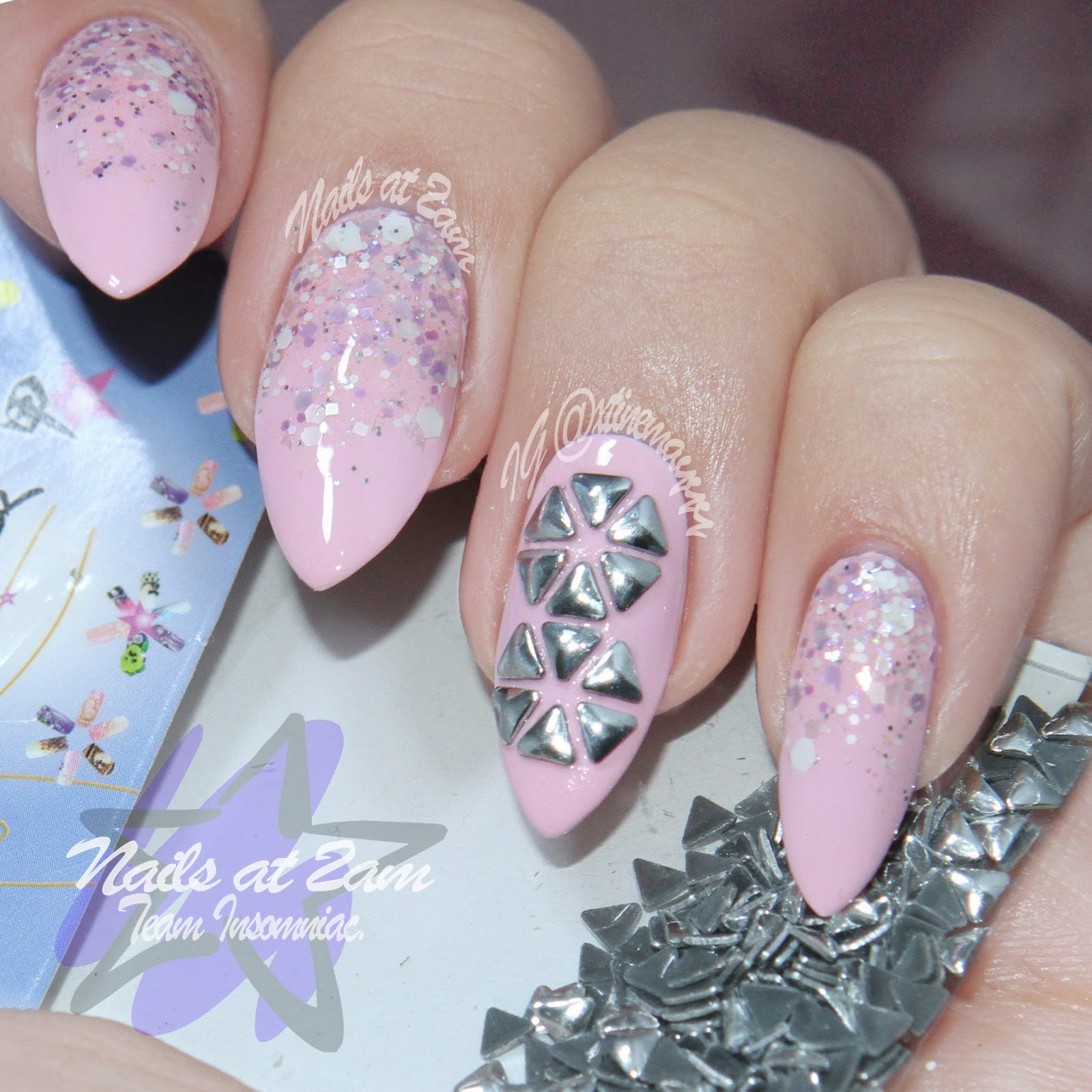 Nails At 2am: Born Pretty Store Review: Triangle Nail Art Studs