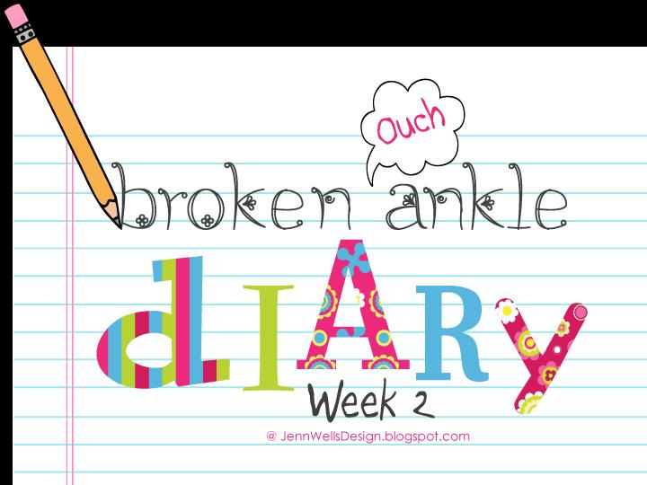 Broken Ankle Diary Week 2