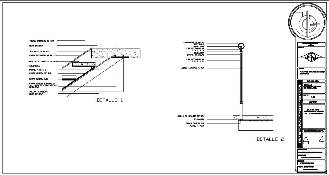 Planos de escaleras elementos complementarios de la for Escaleras para planos
