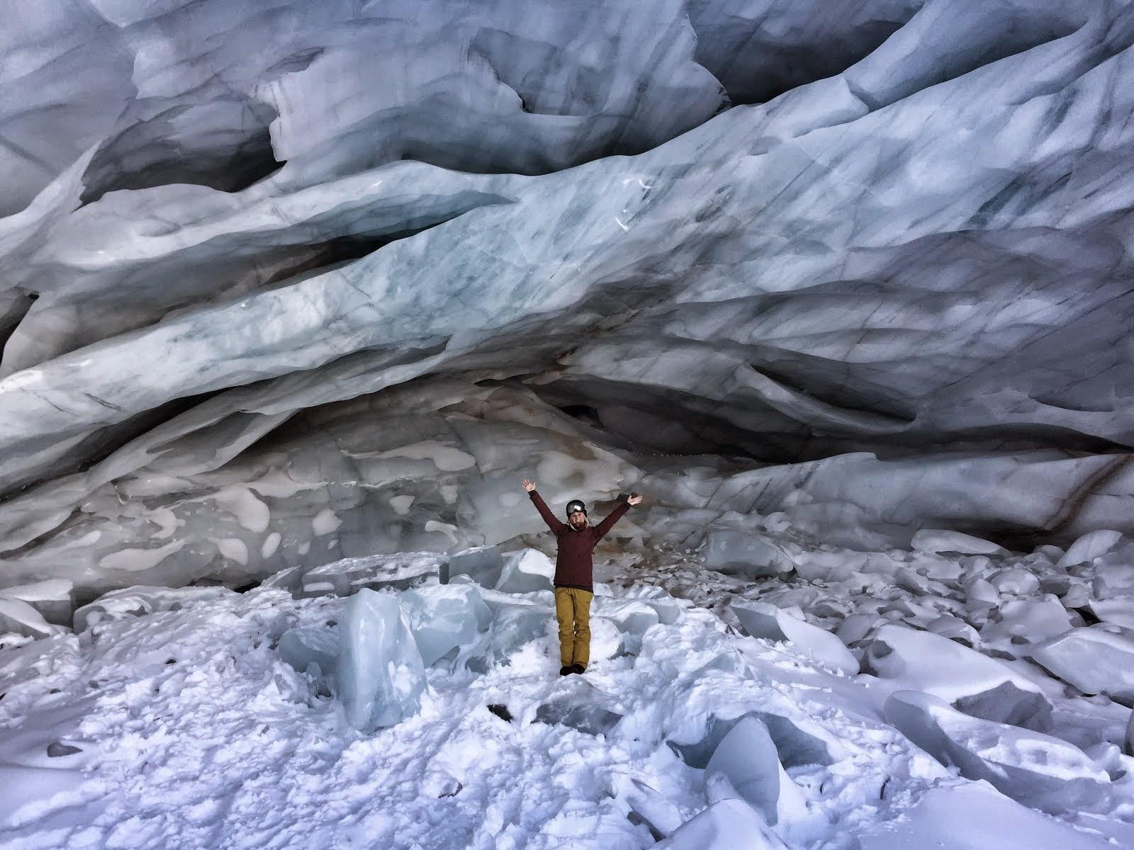 Ice cave in Pitzal, Austria