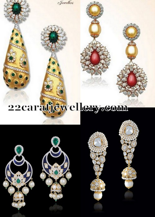 Diamond Hangings by Gehna Jewellery