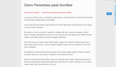 Cara Membuat Persentase Pada Scrollbar