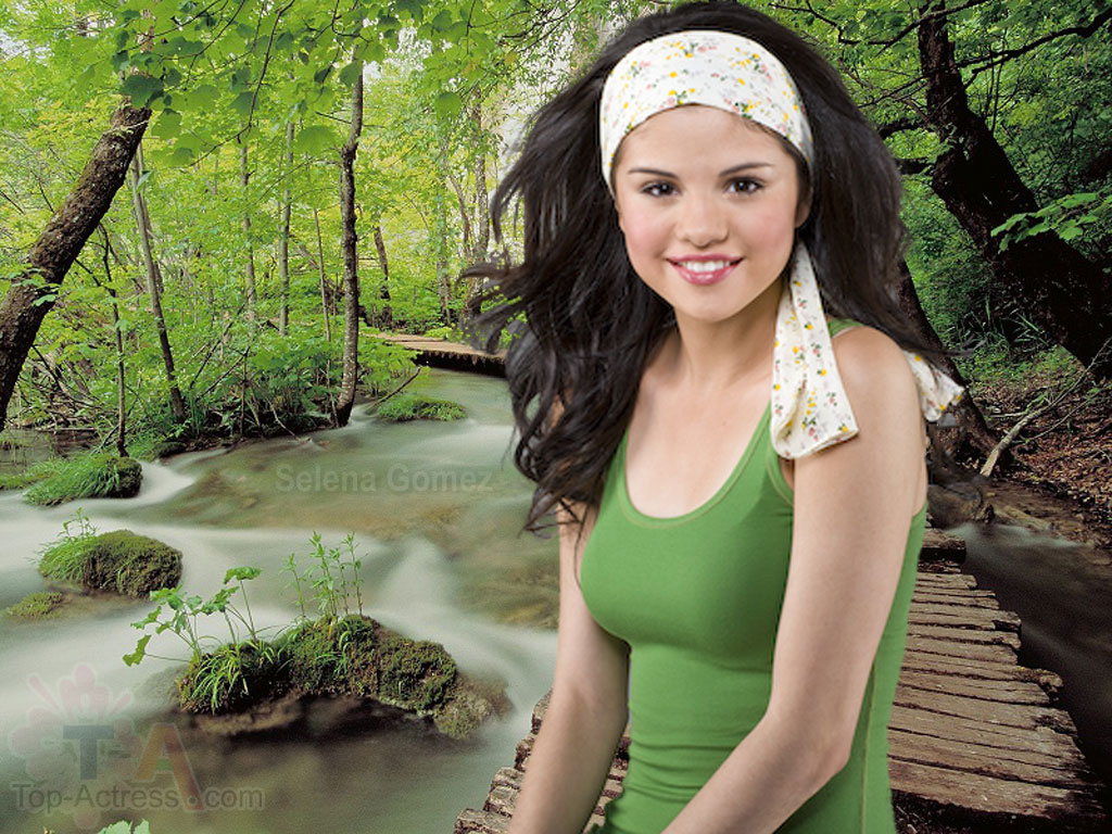Selena Gomez In Forest Hd Wallpaper Image Pic Picture Snap