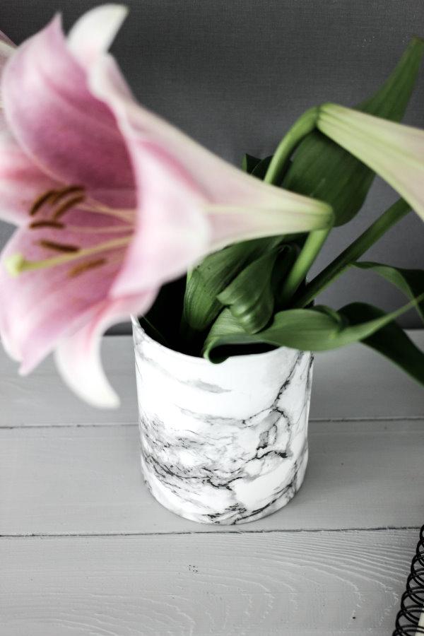 DIY Marmor Blumenvase