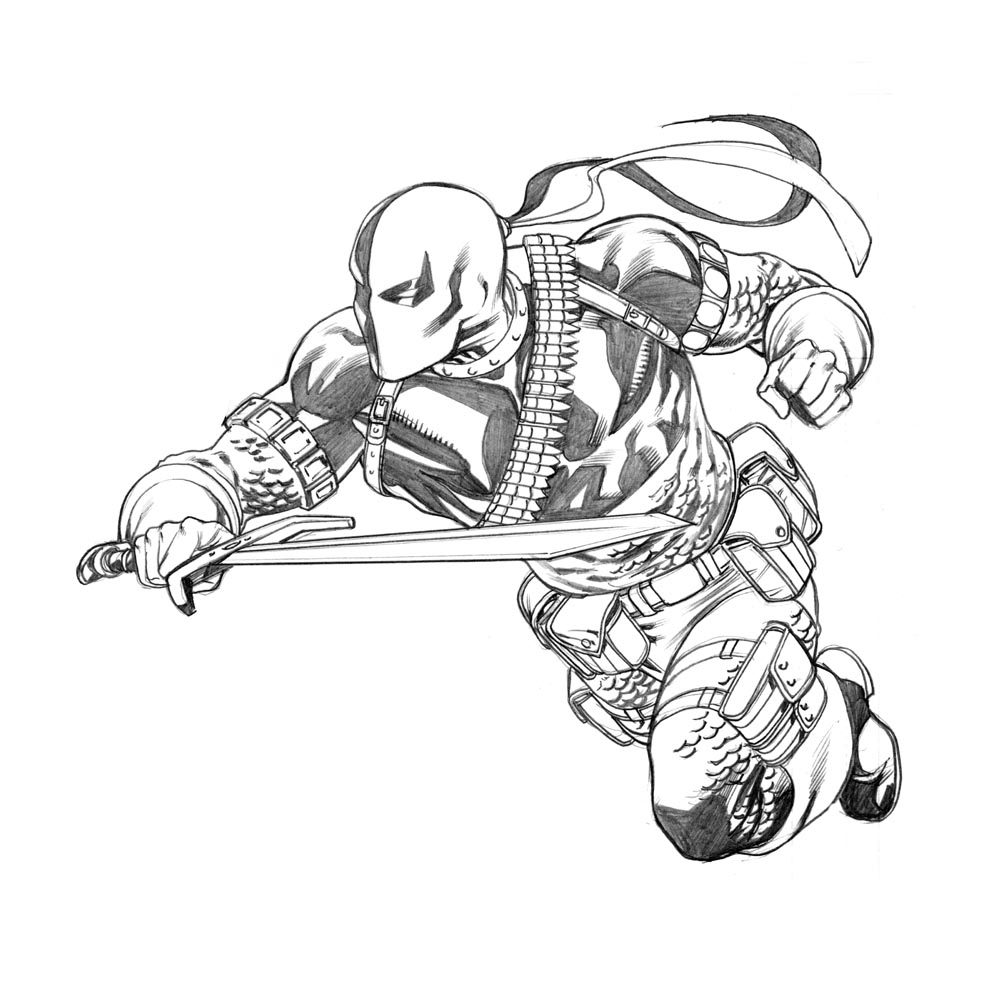 coloring pages of deathstroke costume - photo#27