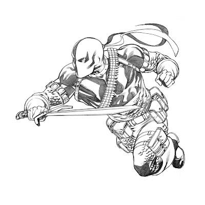 Deathstroke Drawings