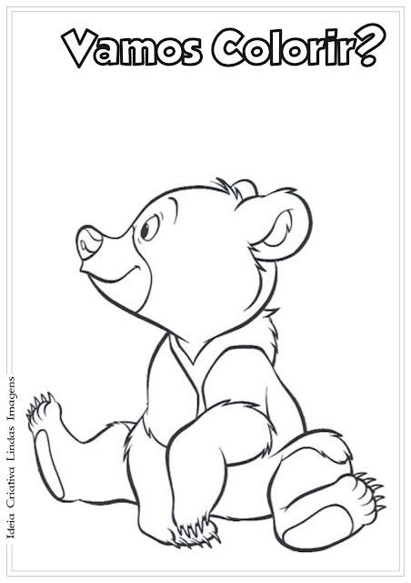 Desenho pra colorir Irmão Urso