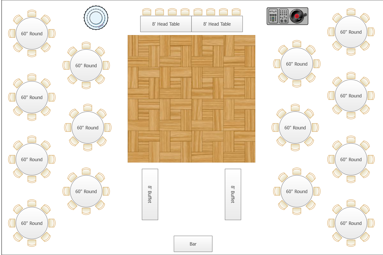 Calgary wedding blog july 2015 for Banquet floor plan template