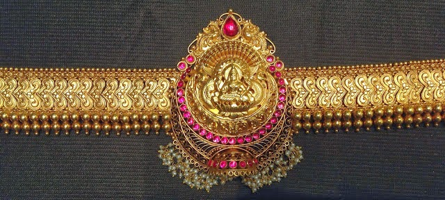 temple jewellery vaddanam