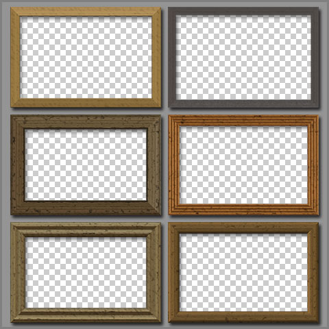 free wooden frames for adobe photoshop and photoshop elements