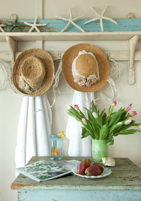 shabby chic beach cottage decor ideas - Beach Cottage Decorations